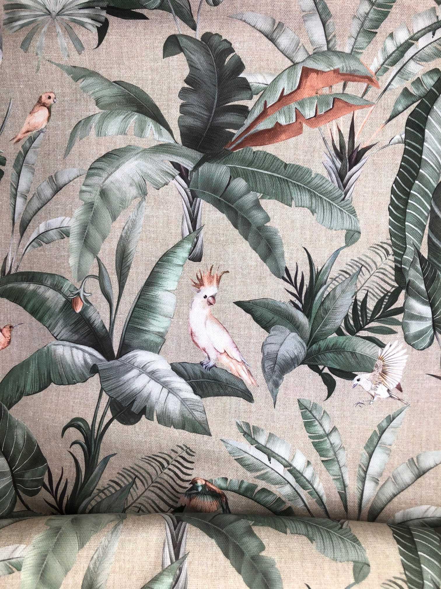 Toile canevas Lin imprimé Tropical